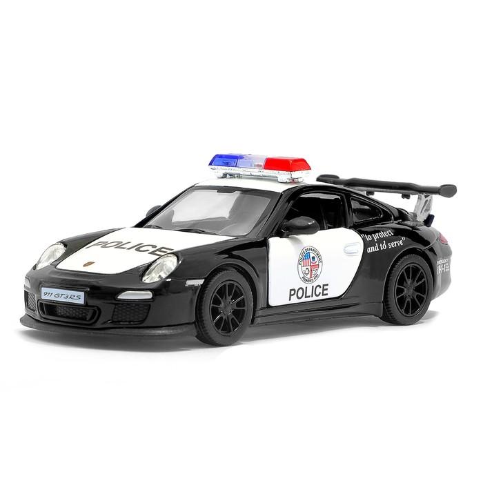 Машина металлическая Porsche 911 GT3 RS (Police), масштаб 1:36, открываются двери, инерция, МИКС