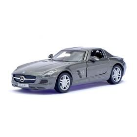 Машина металлическая Mercedes-Benz SLS AMG, масштаб 1:36, открываются двери, инерция, цвет серый