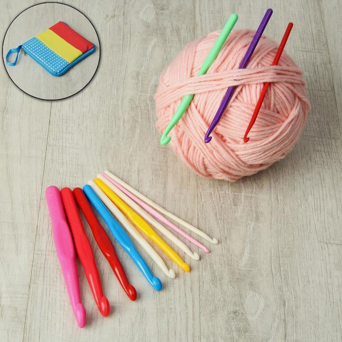 Набор крючков для вязания, d = 4-15 мм, 12 шт, цвет МИКС