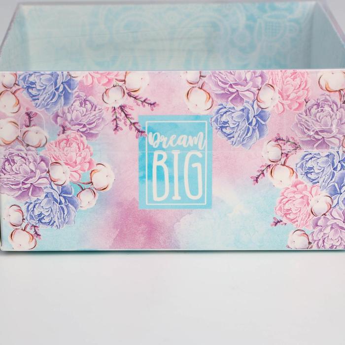 Коробка для кондитерских изделий с PVC крышкой «Большие мечты», 12 х 6 х 11,5 см