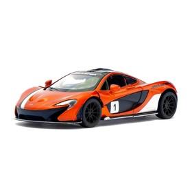 Машина металлическая McLaren P1, 1:36, открываются двери, инерция, цвет оранжевый