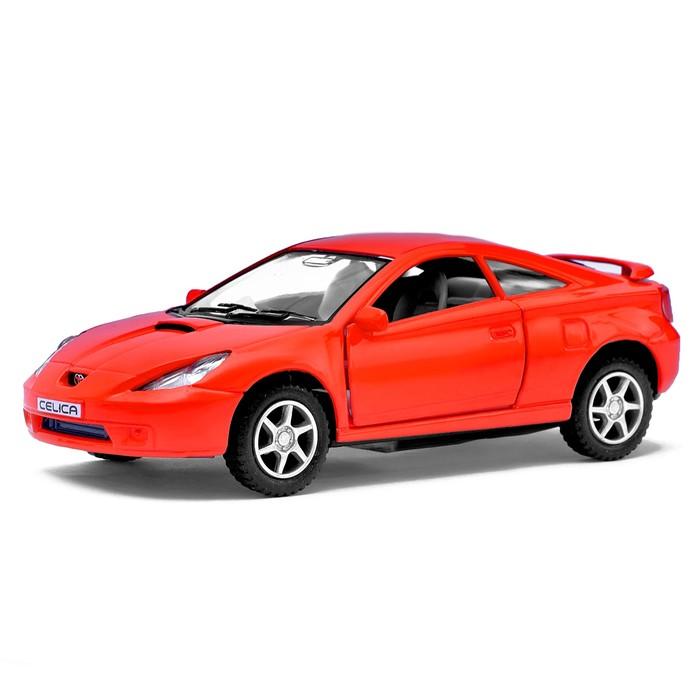 Машина металлическая Toyota Celica, 1:34, открываются двери, инерция, цвет красный