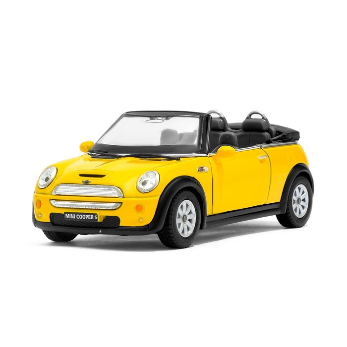 Машина металлическая Mini Cooper S Convertible, масштаб 1:28, открываются двери, инерция, МИКС