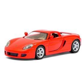 Машина металлическая Porsche Carrera GT, 1:36, открываются двери, инерция, цвет красный
