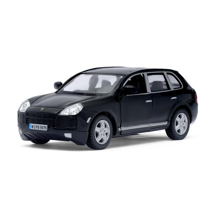 Машина металлическая Porsche Cayenne Turbo, масштаб 1:38, открываются двери, инерция, цвет черный