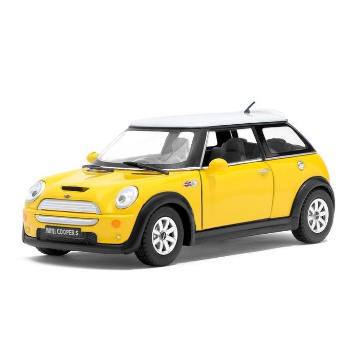 Машина металлическая Mini Cooper S, масштаб 1:28, открываются двери, инерция, МИКС