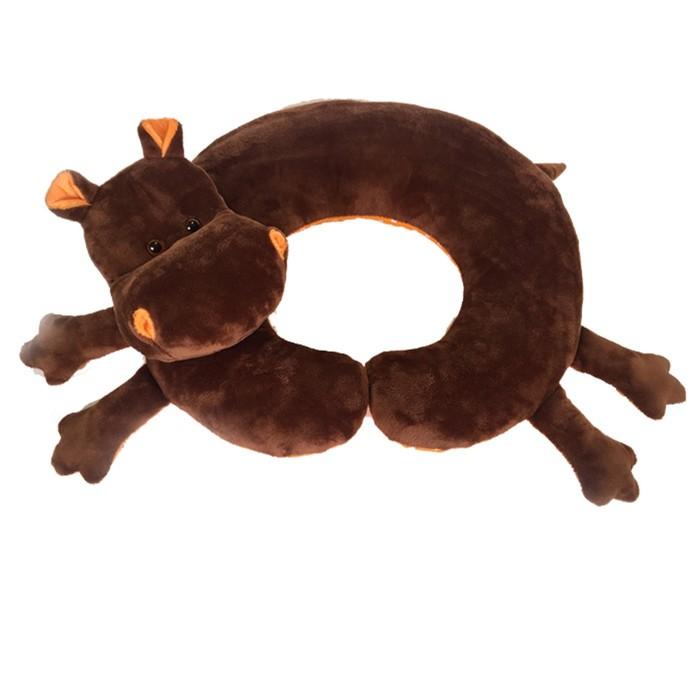 """Мягкая игрушка-подушка """"Бегемот"""", 35 см"""
