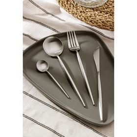 Набор столовых приборов, Magistro «Фолк», 4 предмета, серебро