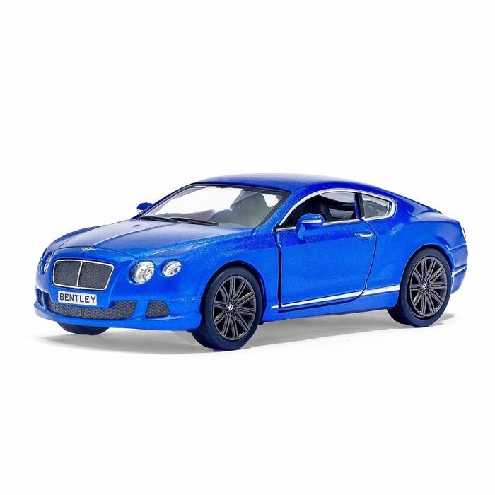 Машина металлическая Bentley Continental GT Speed, 1:38, открываются двери, инерция, цвет синий