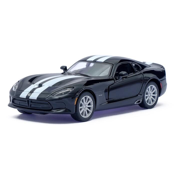Машина металлическая SRT Viper GTS, масштаб 1:36, открываются двери, инерция, цвет черный