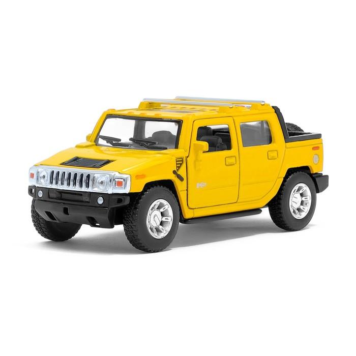 Машина металлическая Hummer H2 SUT, 1:40, открываются двери, инерция, цвет желтый