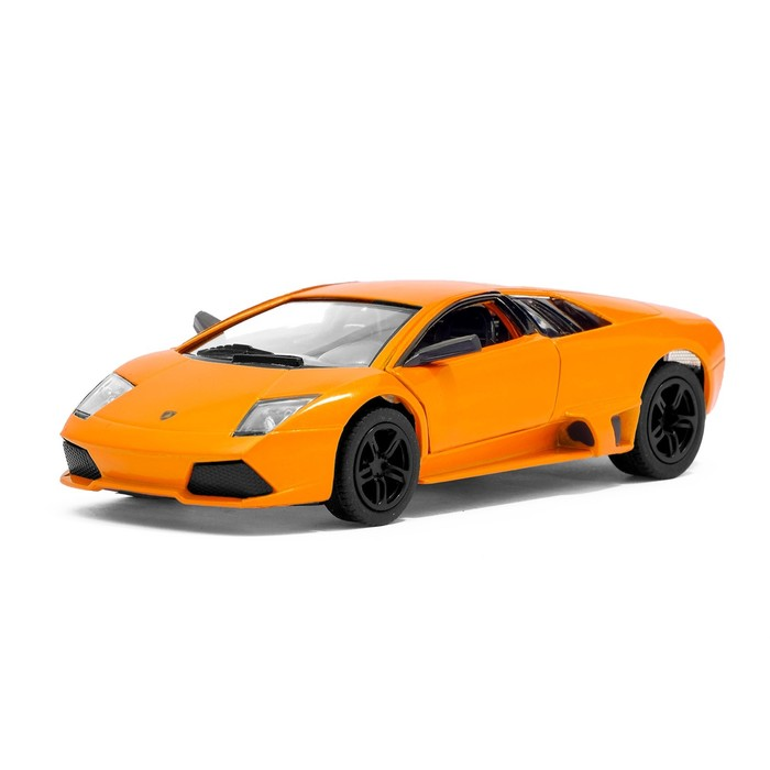 Машина металлическая Lamborghini Murcielago LP640, масштаб 1:36, открываются двери, инерция, цвет оранжевый