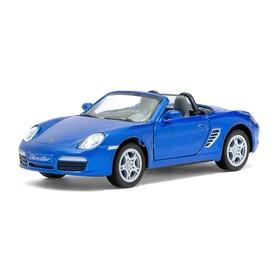 Машина металлическая Porsche Boxster S, 1:34, открываются двери, инерция, цвет синий