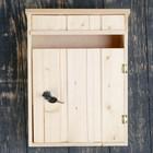 """Почтовый ящик """"Под дерево"""" натуральный, с замком, открывается на себя"""