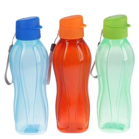 Бутылка для воды 750 мл fun&fun, на шнурке, микс, 7х7х26 см Ош