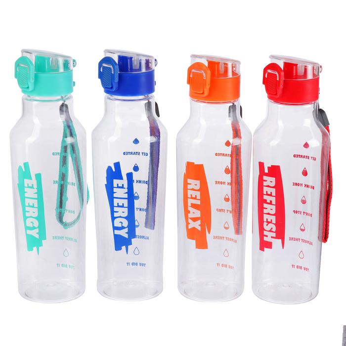 """Бутылка для воды """"Море, солнце, пляж"""", 680 мл, микс, 6.5х6.5х24 см"""