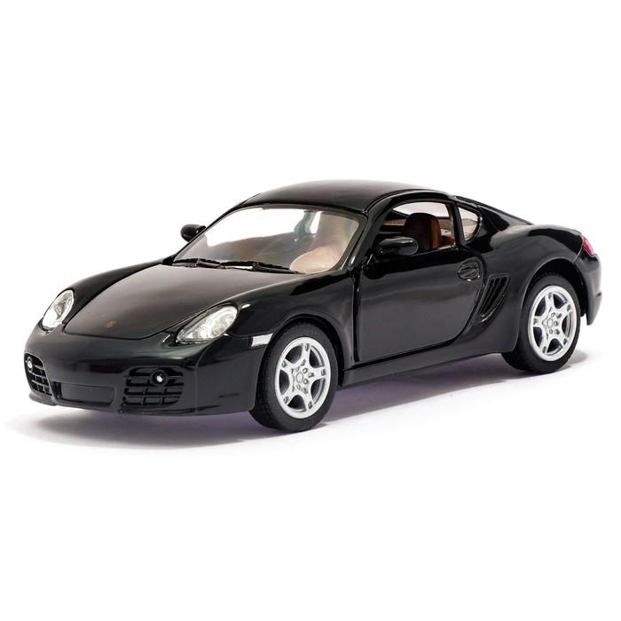 Машина металлическая Porsche Cayman S, масштаб 1:34, открываются двери, инерция, цвет черный