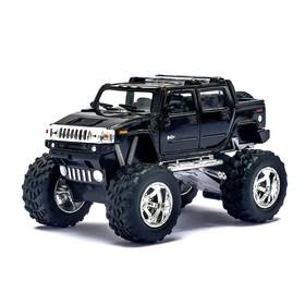Машина металлическая Hummer H2 SUT (Off Road), 1:40, открываются двери, инерция, цвет чёрный