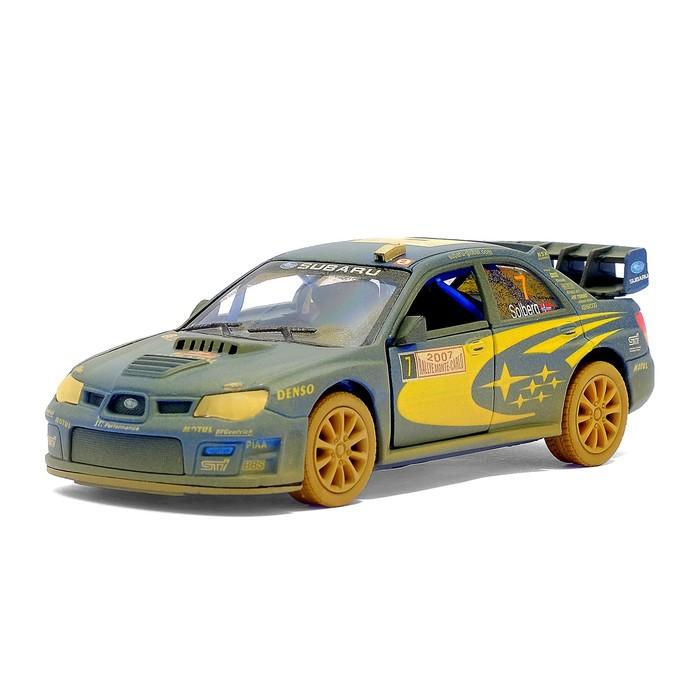 Машина металлическая Subaru Impreza WRC (Muddy), масштаб 1:36, открываются двери, инерция, МИКС