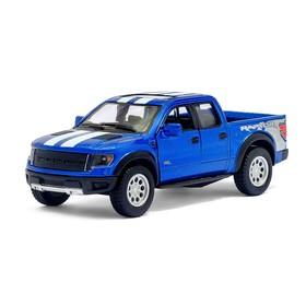 Машина металлическая Ford F-150 SVT Raptor, 1:46, открываются двери, инерция, цвет синий