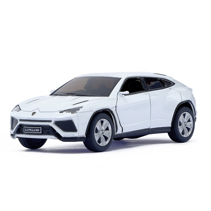 Машина металлическая Lamborghini Urus, масштаб 1:38, открываются двери, инерция, цвет белый