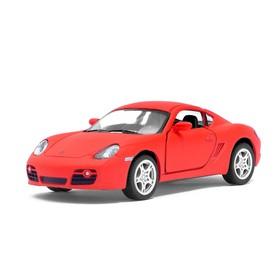 Машина металлическая Porsche Matte Series, 1:36, открываются двери, инерция, цвет красный матовый