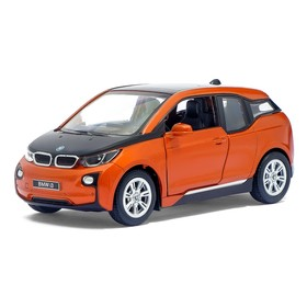 Машина металлическая BMW i3, масштаб 1:36, открываются двери, инерция, МИКС