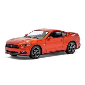 Машина металлическая Ford Mustang GT, 1:38, открываются двери, инерция, цвет бордовый