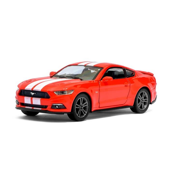 Машина металлическая Ford Mustang GT, 1:38, открываются двери, инерция, цвет красный