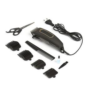 Машинка для стрижки HOME ELEMENT HE-CL1002, 12 Вт, 4 насадки, сталь, цвет «чёрный жемчуг»
