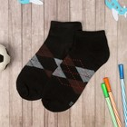 """Low socks for boy Collorista """"Cell"""", size 17 (6-8 years), black"""