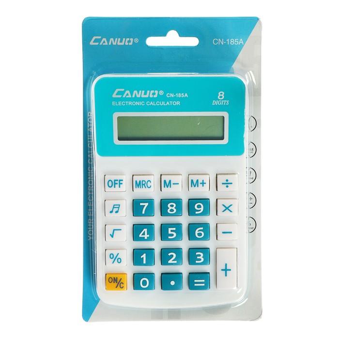 Калькулятор настольный, 8-разрядный, KK-185А, МИКС - фото 408710134