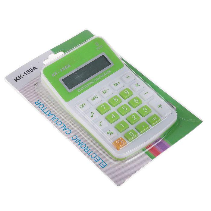 Калькулятор настольный, 8-разрядный, KK-185А, МИКС - фото 408710135