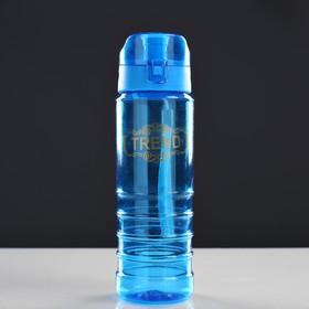 Бутылка для воды 600 мл, на шнурке, микс, 7х7х22.5 см Ош