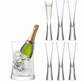 Набор для сервировки шампанского Moya, прозрачный