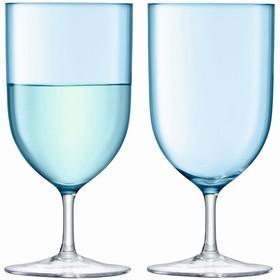 Набор из 2 бокалов для воды и вина Hint, 400 мл, бирюзовый