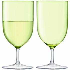 Набор из 2 бокалов для воды и вина Hint, 400 мл, зелёный