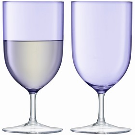 Набор из 2 бокалов для воды и вина Hint, 400 мл, фиолетовый