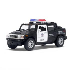 Машина металлическая Hummer H2 SUT (Police), масштаб 1:40, открываются двери, инерция, МИКС