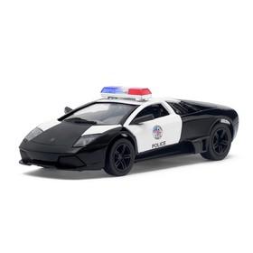 Машина металлическая, инерционная Lamborghini Murcielago LP640 (Police), масштаб 1:36, открываются двери