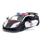 Машина металлическая Lamborghini Sesto Elemento (Police), масштаб 1:38, открываются двери, инерция, МИКС - фото 105651436