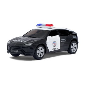 Машина металлическая Lamborghini Urus (Police), масштаб 1:38, открываются двери, инерция, МИКС