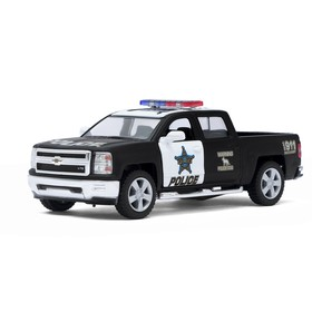 Машина металлическая Chevrolet Silverado (Police), масштаб 1:46, открываются двери, инерция, МИКС