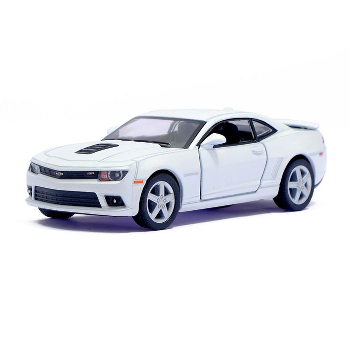 Машина металлическая Chevrolet Camaro, 1:38, открываются двери, инерция, цвет белый - фото 105651443