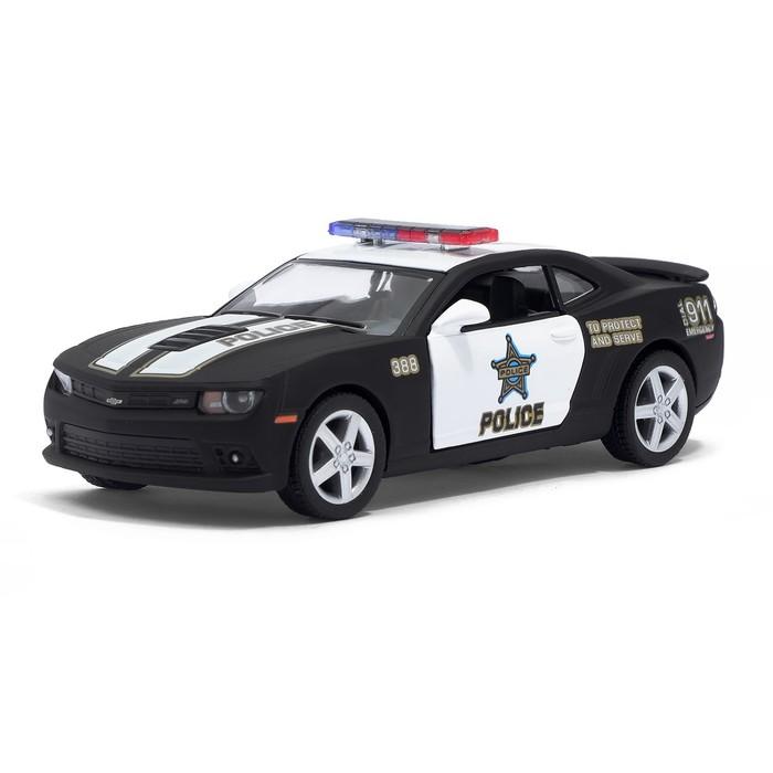 Машина металлическая Chevrolet Camaro (Police), масштаб 1:38, открываются двери, инерция, МИКС