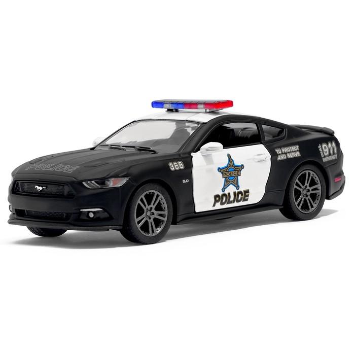 Машина металлическая Ford Mustang GT (Police), масштаб 1:38, открываются двери, инерция, МИКС