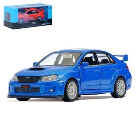 Машина металлическая SUBARU WRX STI, 1:32, инерция, цвет синий