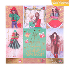 """Paper for scrapbooking with the foiling of the """"Pleasant surprises"""" 15.5 x 15.5 cm, 250g/m"""
