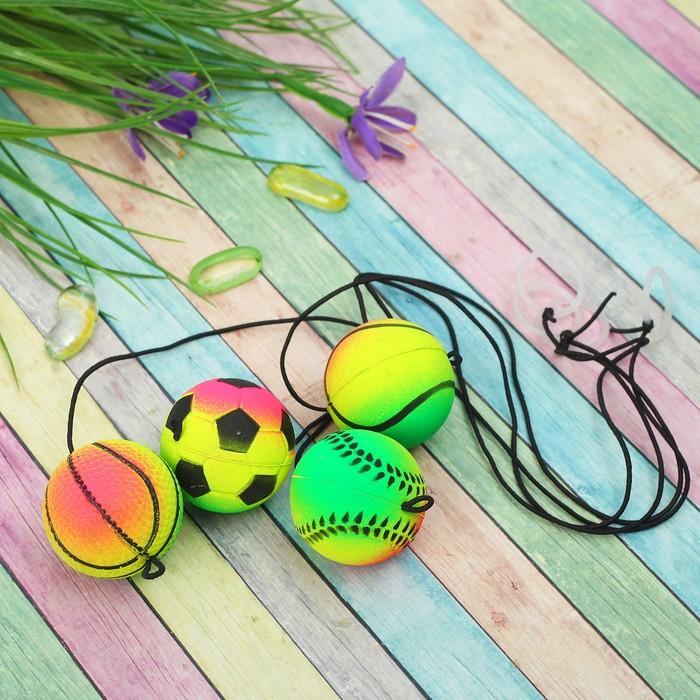 Мяч мягкий «Попрыгун», на резинке 4 см