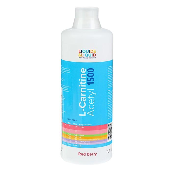 Жиросжигатель Liquid & Liquid Acetyl L-Carnitine 1500 Красная ягода 1000 мл
